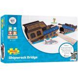 Dřevěné hračky Bigjigs Rail Most vrak lodi