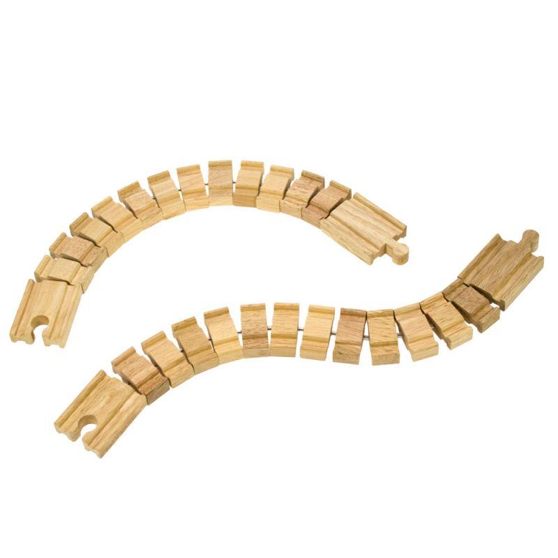 Dřevěné hračky Bigjigs Rail Ohebná kolej 2 kusy