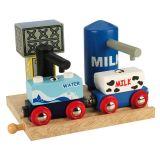 Bigjigs Rail dřevěná vláčkodráha  - Skladiště mléka a vody