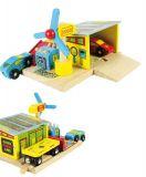 Bigjigs Rail dřevěné vláčkodráha - Nabíjecí stanice + 2 auta