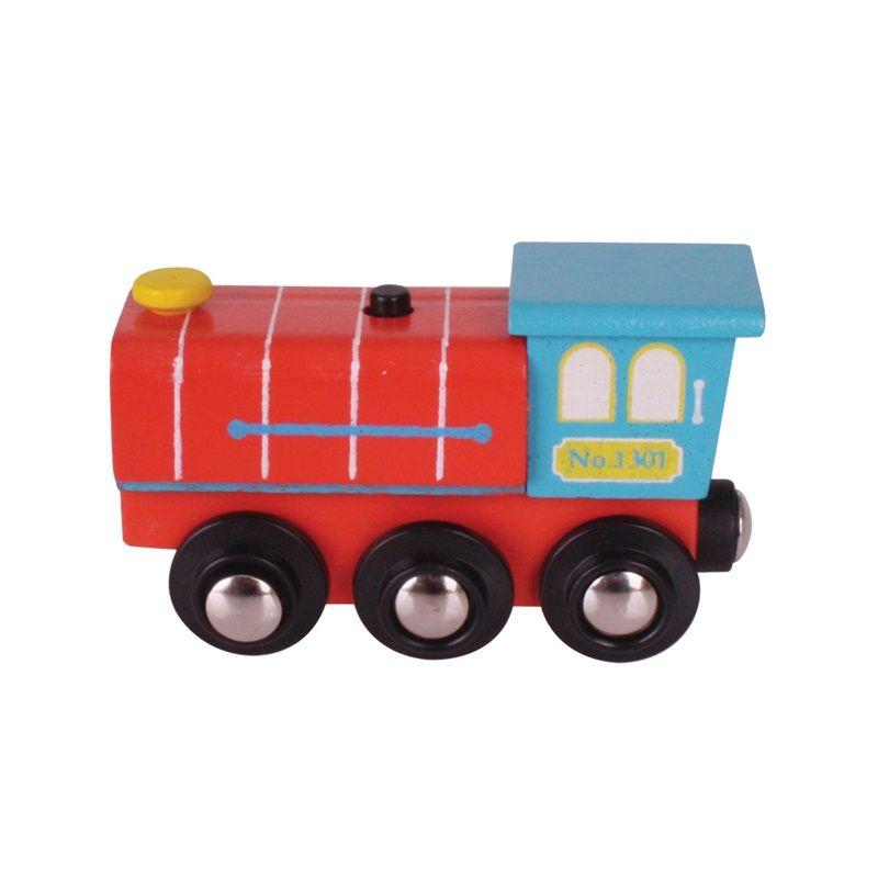 Dřevěné hračky Bigjigs Rail lokomotiva se zvukem