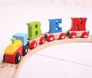 Dřevěné hračky Bigjigs Rail vagónek dřevěné vláčkodráhy - Písmeno E