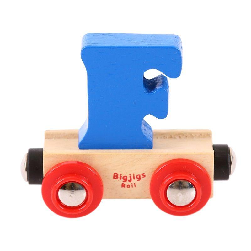 Dřevěné hračky Bigjigs Rail vagónek dřevěné vláčkodráhy - Písmeno F