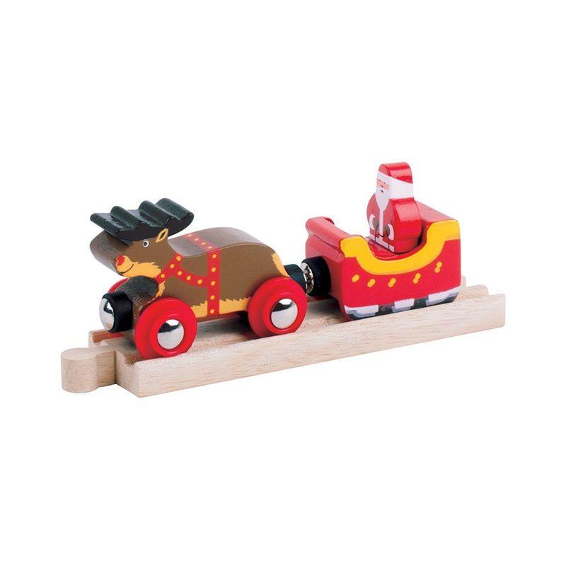 Dřevěné hračky Bigjigs Rail Santovo spřežení + kolej