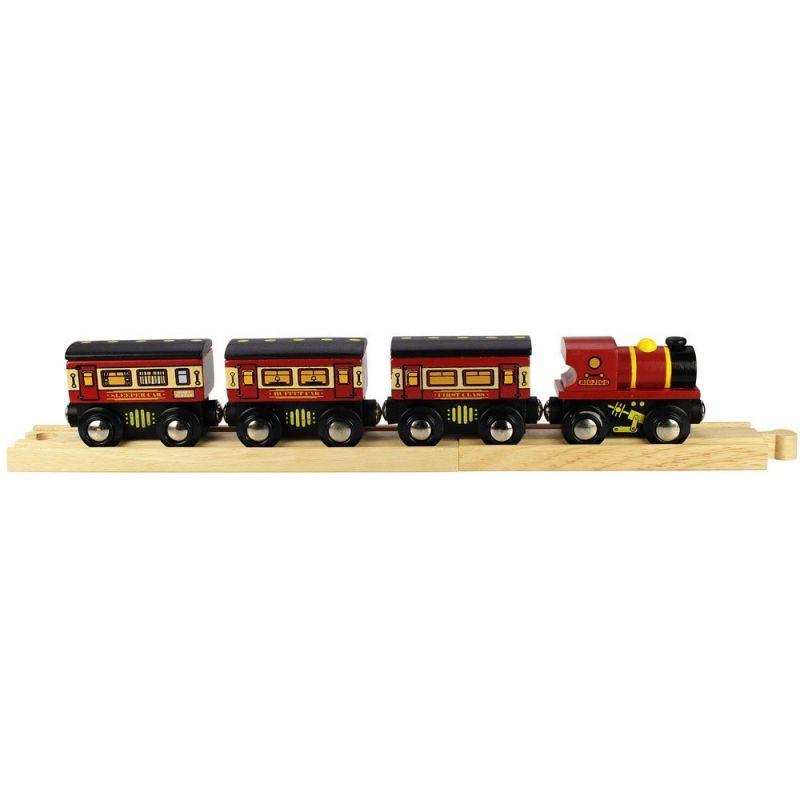 Dřevěné hračky Bigjigs Rail Dálkový vlak + 3 koleje