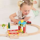 Dřevěné hračky Bigjigs Rail Závory s návěstím