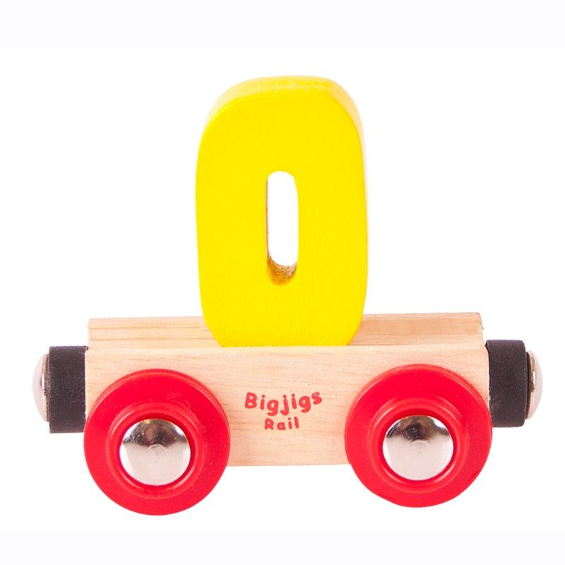 Dřevěné hračky Bigjigs Rail vagónek dřevěné vláčkodráhy - Číslo 0