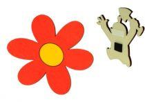 DoDo Dřevěná dekorační magnetka kytička od krtka