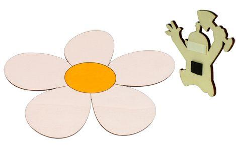 Dřevěné hračky DoDo Dřevěná dekorační magnetka magnetka kopretina