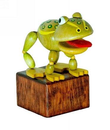 Dřevěné hračky Detoa Mačkací figurka Žába