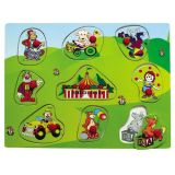 Dřevěné hračky - Vkládací puzzle - Vkládačka - Cirkus