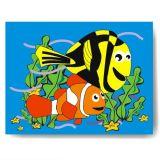 Dřevěné vkládací puzzle hledá se Nemo