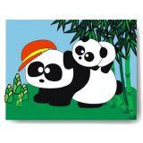 Dřevěné vkládací puzzle panda