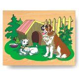 Dřevěné hračky - Vkládací puzzle - Vkládačka - Pejsci