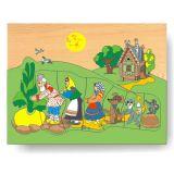 Dřevěné hračky - Vkládací puzzle - Vkládačka Pohádka o řepě