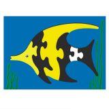 Dřevěné vkládací puzzle ryba