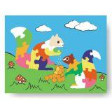Dřevěné hračky - Vkládací puzzle - Vkládačka - Veverky