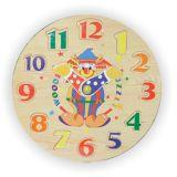 Vkládací výukové puzzle hodiny klaun