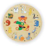 Vkládací výukové puzzle hodiny zvířata