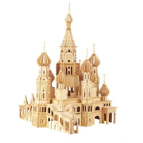 Dřevěné hračky Woodcraft Dřevěné 3D puzzle kostel Petersburg Woodcraft construction kit