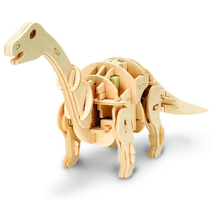 Dřevěné hračky RoboTime Robotická hračka dinosaurus malý APATOSAURUS