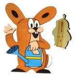 DoDo Veselý kolíček s dekorací zajíc