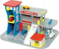 Bigjigs Toys Dřevěná garáž pro auta