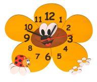 DoDo Dětské dřevěné hodiny kopretina