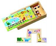 Dřevěná hra Domino zvířátka