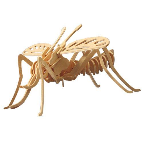 Dřevěné hračky Woodcraft Dřevěné 3D puzzle moskyt Woodcraft construction kit