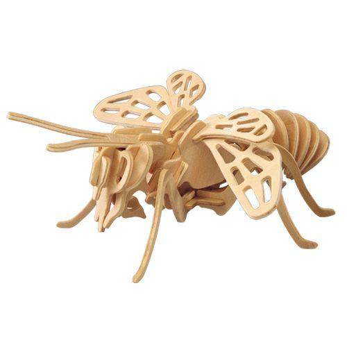 Dřevěné hračky Woodcraft Dřevěné 3D puzzle včela Woodcraft construction kit