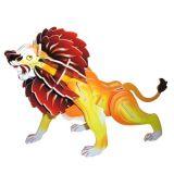 Woodcraft Dřevěné 3D puzzle velký lev