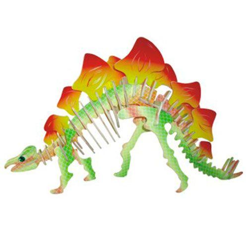 Dřevěné hračky Woodcraft Dřevěné 3D puzzle Stegosaurus Woodcraft construction kit