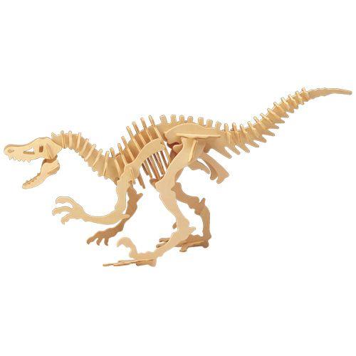 Dřevěné hračky Woodcraft Dřevěné 3D puzzle Velociraptor Woodcraft construction kit