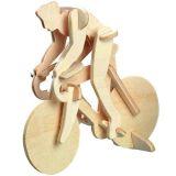 Woodcraft Dřevěné 3D puzzle závodní kolo s cyklistou