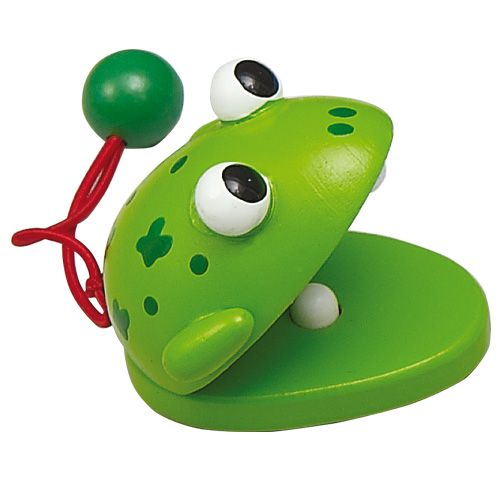 Dřevěné hračky HJ Toys Dětské kaskaněty žába
