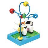 Dřevěné hračky -Motorické hračky-Motorický labyrint kravička