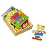 HJ Toys Oblékací puzzle šatní skříň medvídek