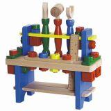 Dřevěné hračky - Pracovní stůl - Stůl s dřevěným nářadím