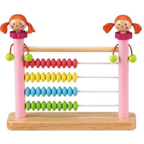 Dřevěné hračky HJ Toys Dřevěné počítadlo holčička