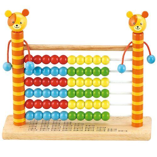 Dřevěné hračky HJ Toys Dřevěné počítadlo medvídek