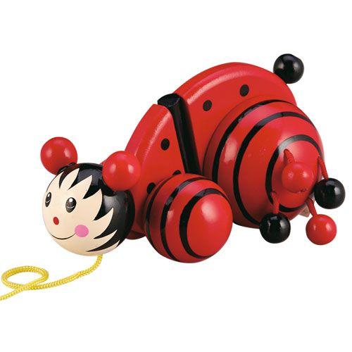 Dřevěné hračky HJ Toys Tahací beruška