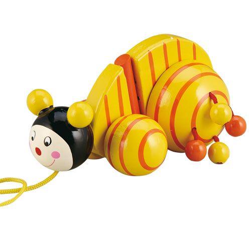 Dřevěné hračky HJ Toys Tahací šnek