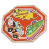 Dřevěné hračky - Vkládací puzzle - Dopravní prostředky J