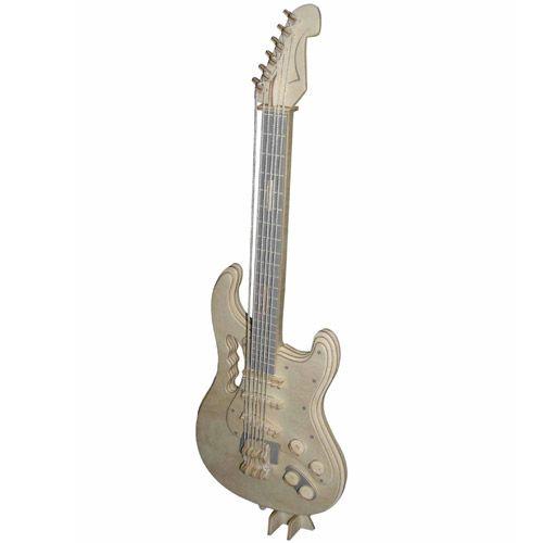 Dřevěné hračky Woodcraft Dřevěné 3D puzzle elektrická kytara Woodcraft construction kit