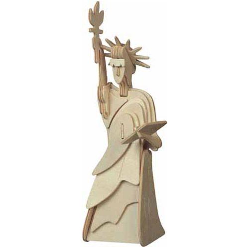 Dřevěné hračky Woodcraft Dřevěné 3D puzzle socha svobody menší Woodcraft construction kit