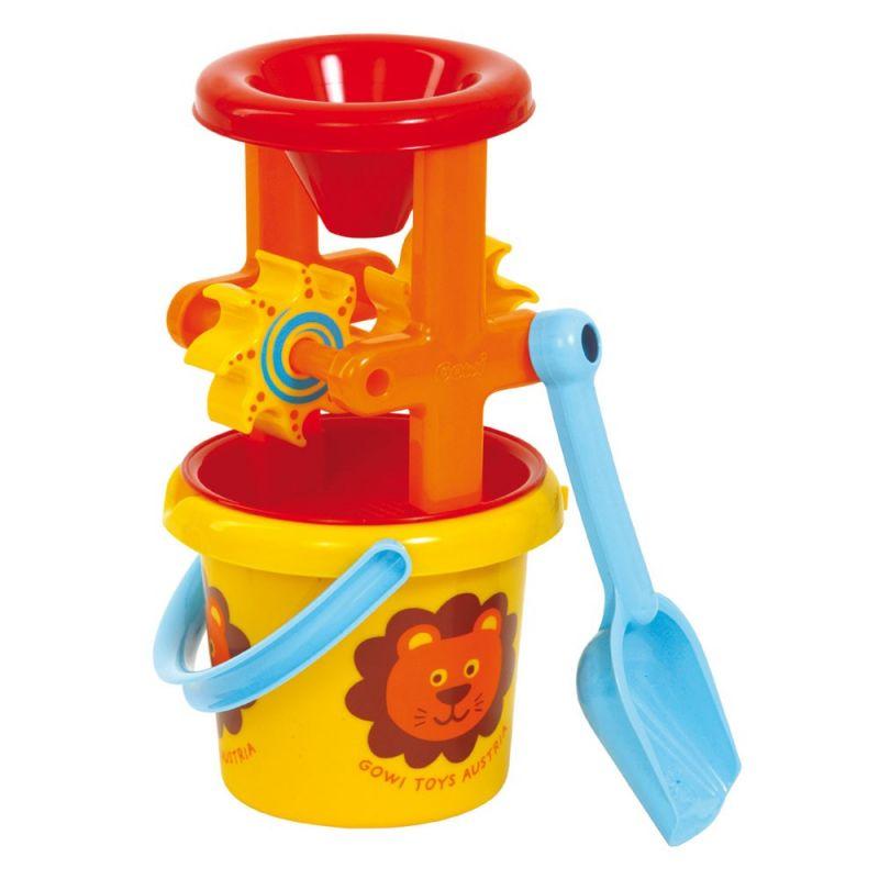 Dřevěné hračky Gowi Set mlýnků s lžící