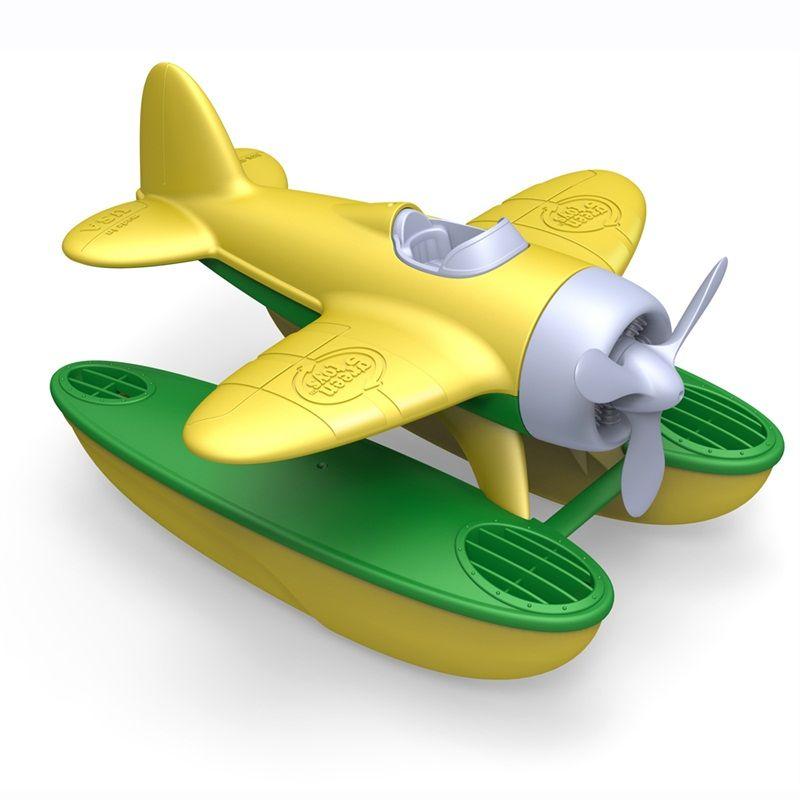 Dřevěné hračky Green Toys - Hydroplán žlutý