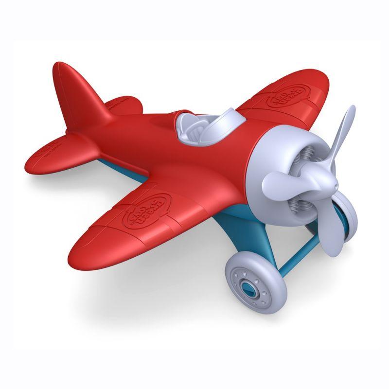 Dřevěné hračky Green Toys letadlo červené