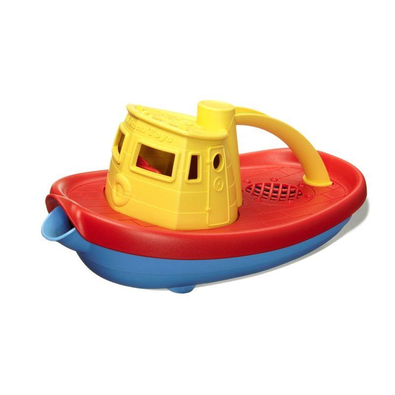 Dřevěné hračky Green Toys - Loďka žlutá